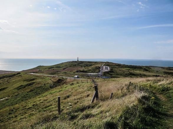 Das Cap Blanc-Nez liegt 10 km westlich von Calais und ist 132 Meter hoch.