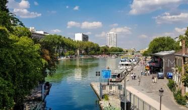 Sommerfrische am Bassin de la Villette.