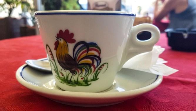 Tasse mit Hahn Keramik Mondovi