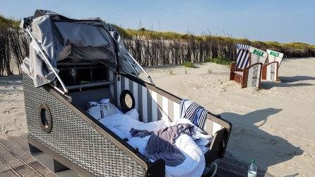 Schlafstrandkorb auf Norderney