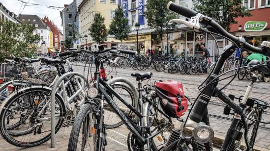 Fahrräder in Freiburg