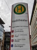 Haltestelle Stadttheater Freiburg.
