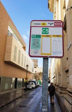 Haltestelle Linie C5 in Sevilla