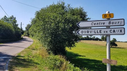 Schild: D5 in Seine-Maritime