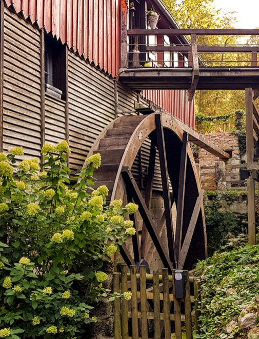 Wasserrad der Glattenzainbachmühle