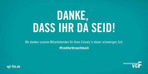 #Frankfurtbrauchteuch - Danke-Tweet der VGF vom 27. März. ©VGF