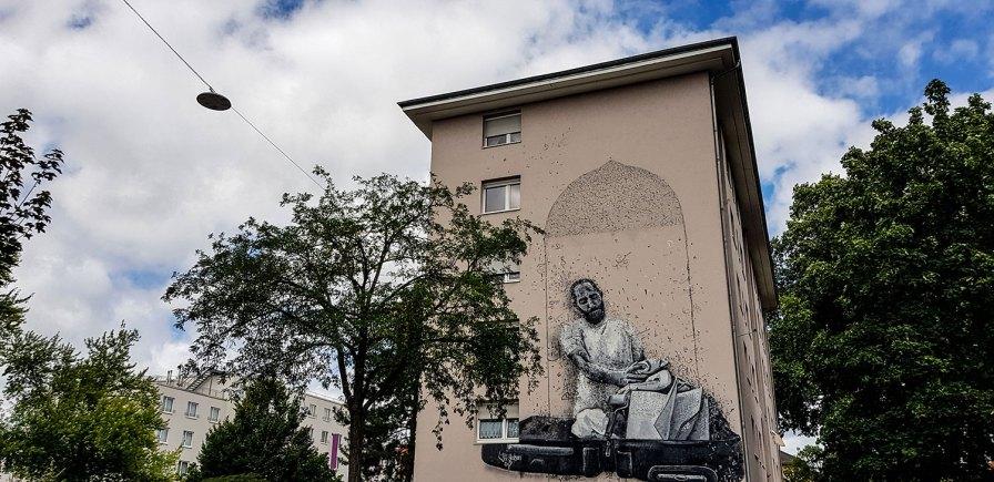 Streetart und Murals in Mannheim Stadt.Wand.Kunst