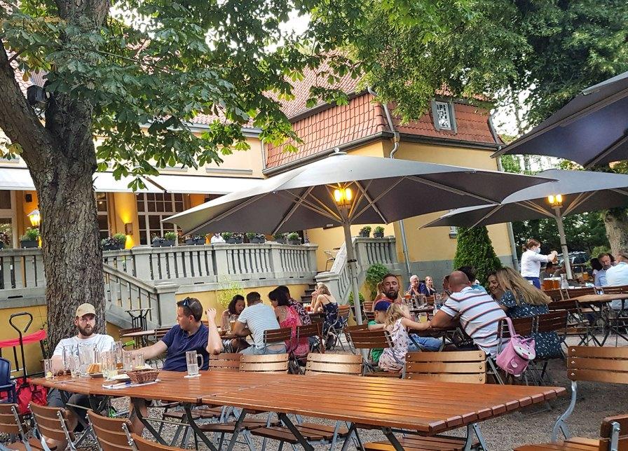 Schöner Biergarten in Soltau.
