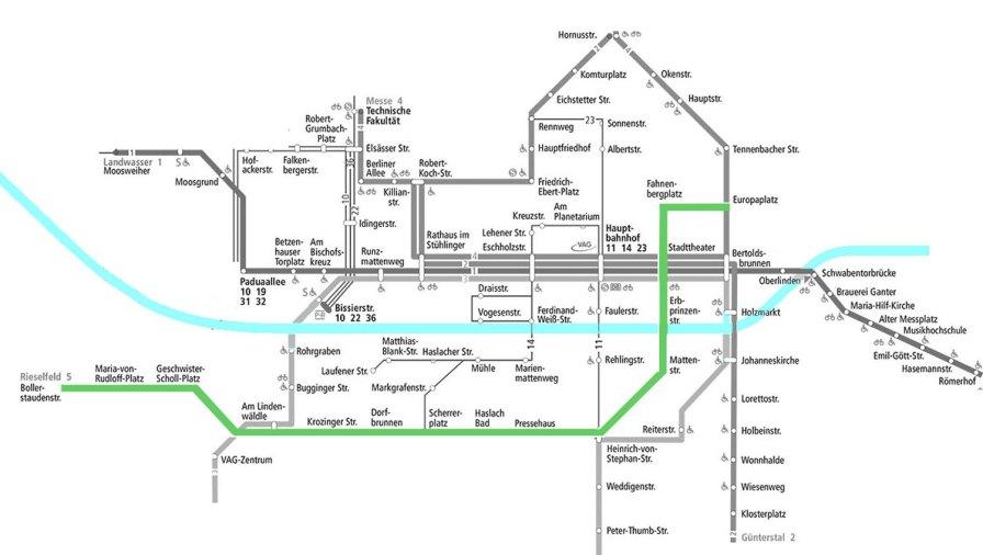 VAG Liniennetzplan