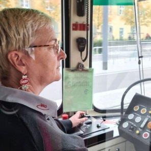 Straßenbahnfahrerin Annette von Ulardt