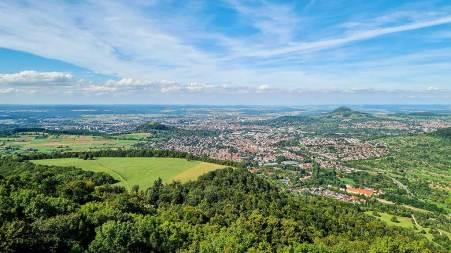 Aussicht vom Schönbergturm Richtung Norden.