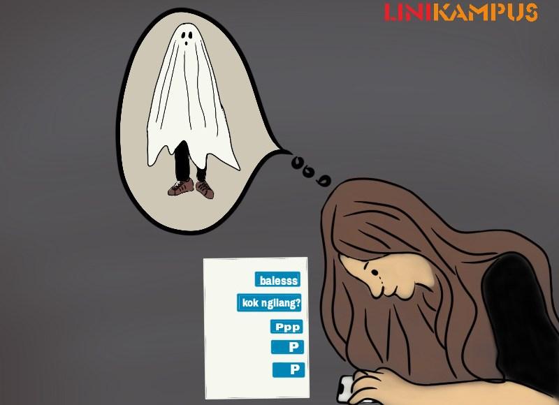 ilustrasi ghosting