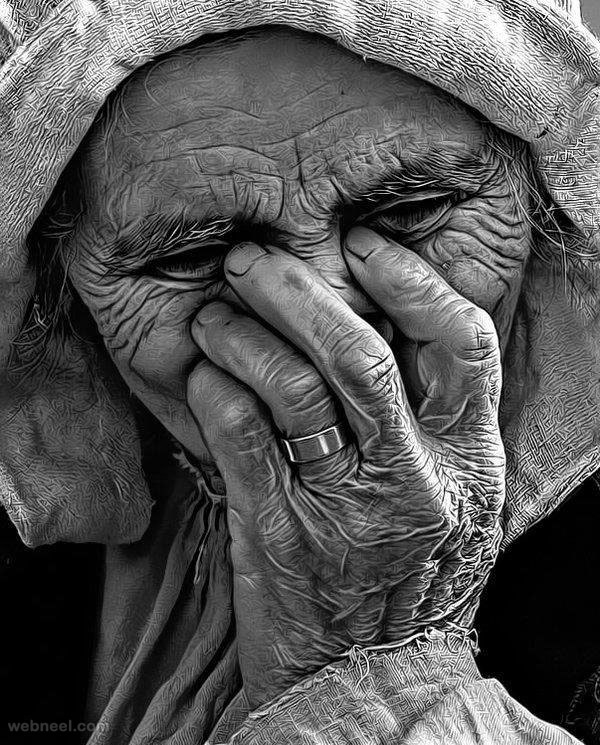 9-amazing-drawing-old-woman-by-kinglord