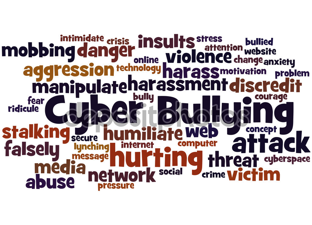 Cyber Bullying, word cloud concept 3