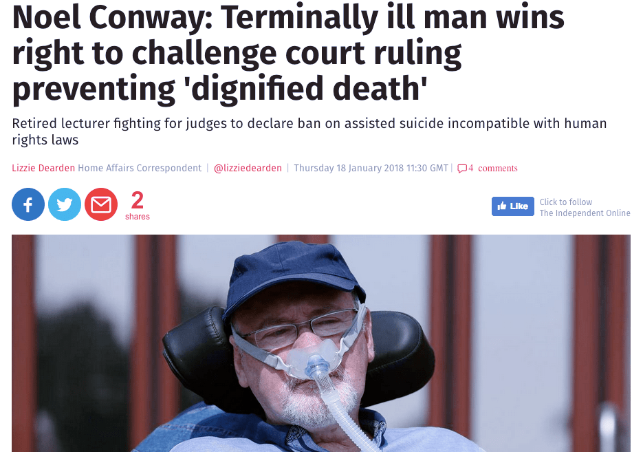 Noel Conway. Assisted dying.