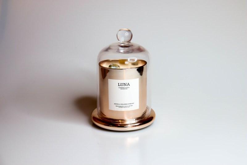 Luna_rose_gold Crystal Candle Lini Skinfood