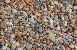 erfülltes Leben mit kleinen Kieselsteinen