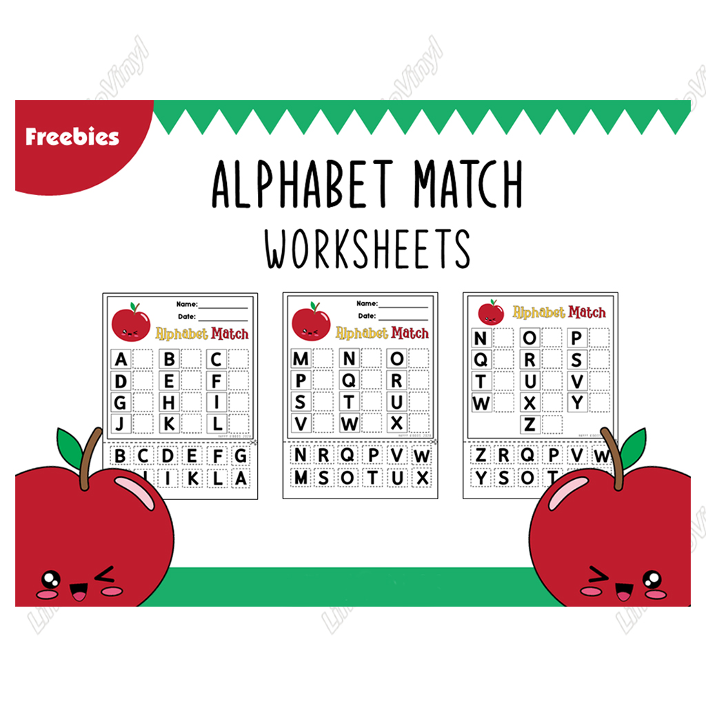 Design Free Abc Matching Worksheets Files