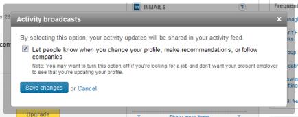 Turning Off LinkedIn Update Alerts