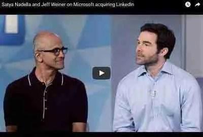 Satya Nadella & Jeff Weiner announcement
