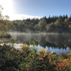 Mist on the water. Autumn at Lochan Spling