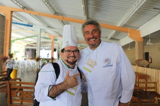 Chefs Luiz Farias e Emannuel Bassolei