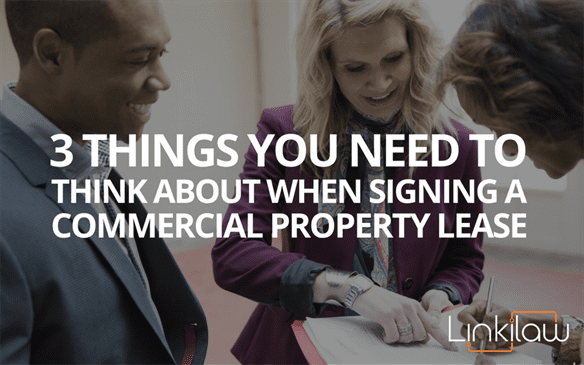 signing a commercial property lease