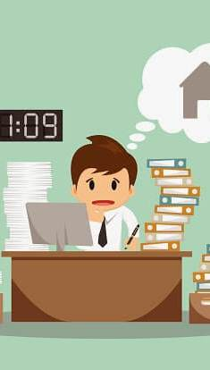 Not being to disconnect when you're working from home can turn into a real problem - respect your hours!
