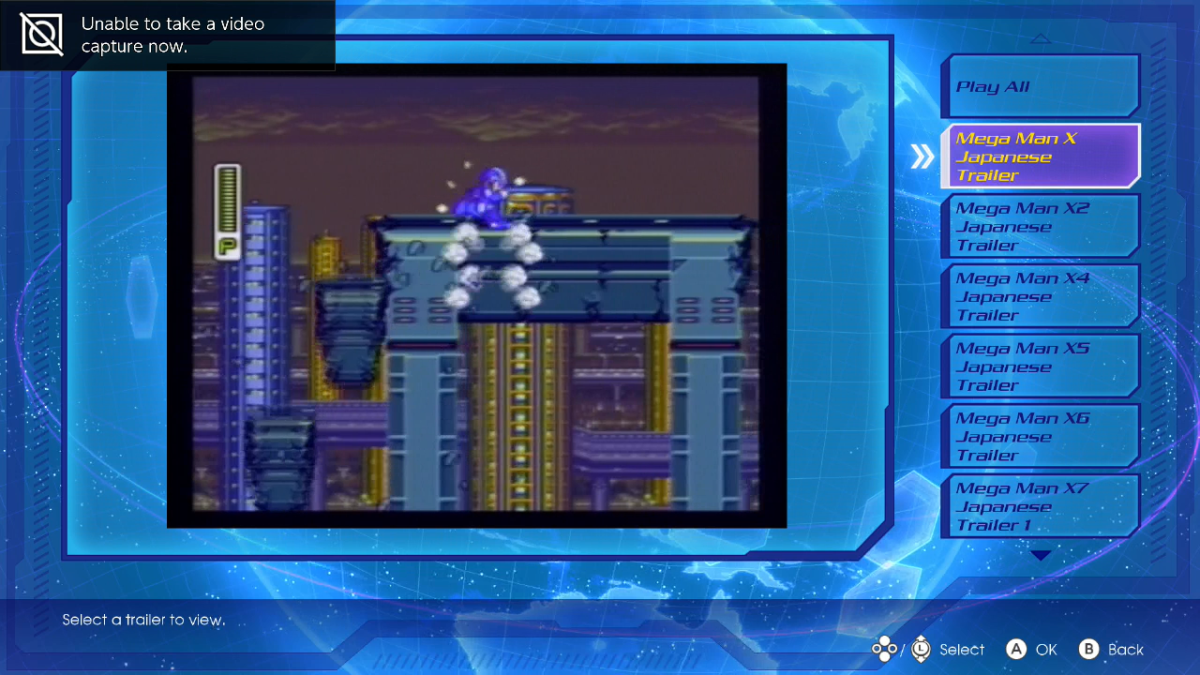 Moments when MMX Legacy Collections block screenshots and videos