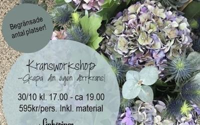 Kransworkshop 30:e oktober