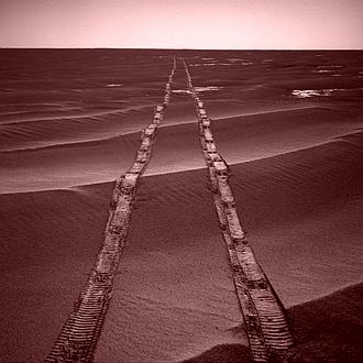 Mars Rover tracks