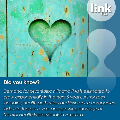linkPAs demand for mental health workers branded graphic