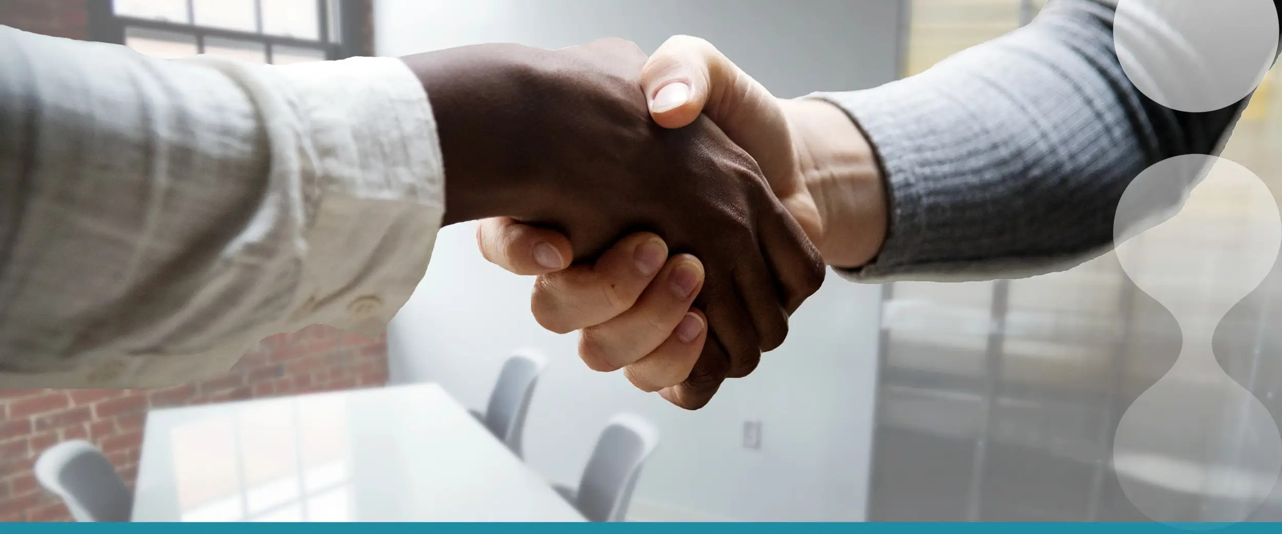 healthcare hiring handshake