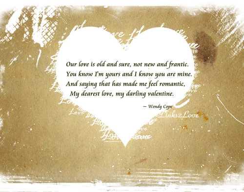 Wendy Cope, Love Poem