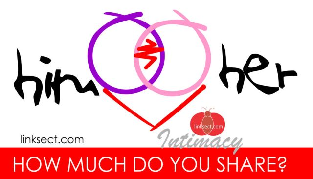 How much do you share in a relationship...?