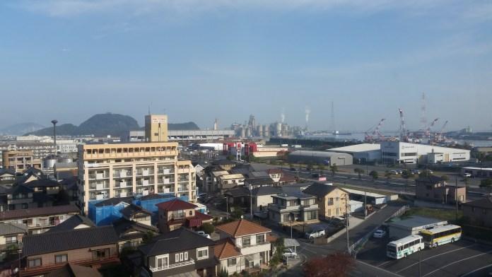 La vue de mon hôtel, à Kanda