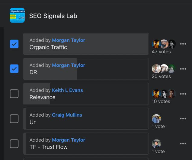 SEO Signals Lab group