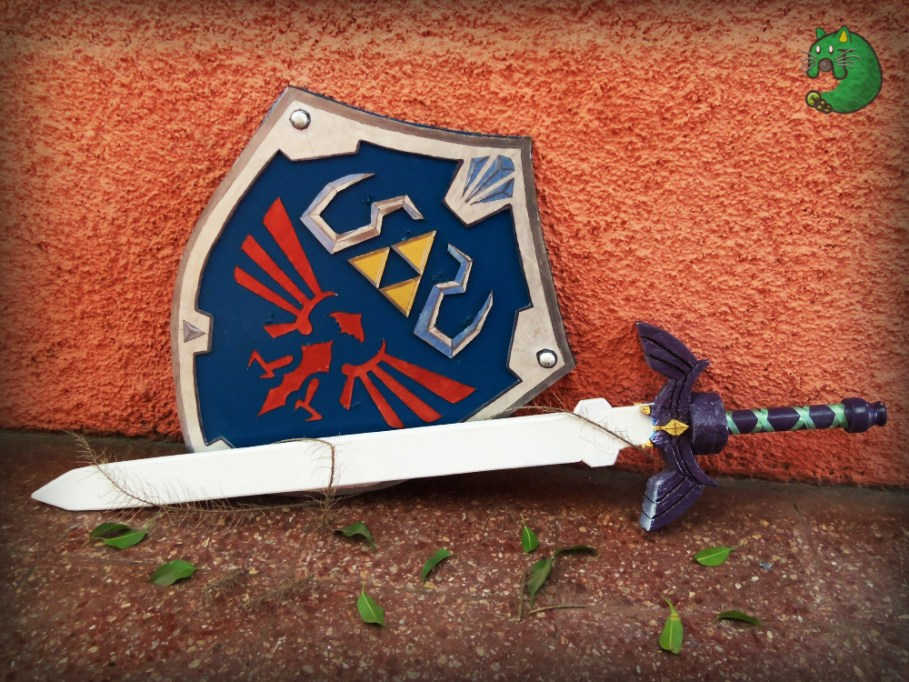 Master Sword and Hylian Shield