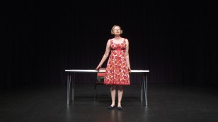 Liz Porter performing 'Learning to See'