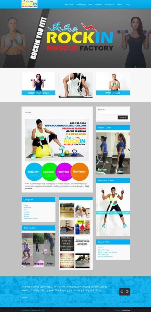 Personal Trainer Shenell Benjamin Website