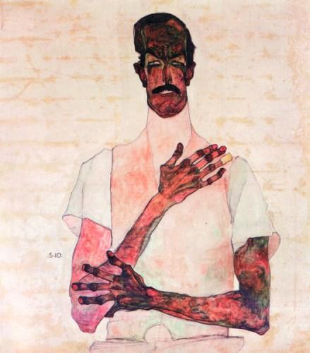 Egon Schiele_Portrait of Dr. Erwin von Graff_1910