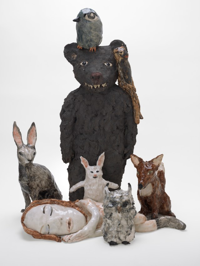 Klara Kristalova, The Sleepless (2011), glazed stoneware and porcelain