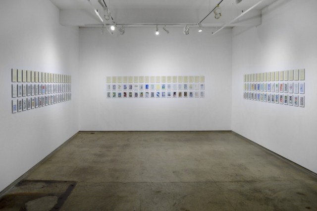 Installation view of Pages from a Humument at Flowers Gallery