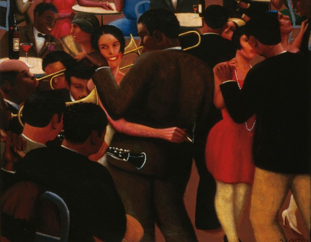 Archibald J. Motley Jr. (1891–1981), Blues, 1929. Oil on canvas, 36 × 42 in. (91.4 × 106.7 cm). Collection of Mara Motley, MD, and Valerie Gerrard Browne.