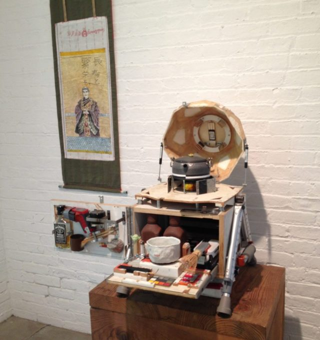 Installation view, Tom Sachs: Tea Ceremony, Noguchi Museum