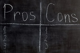 Blackboard list of pros and cons