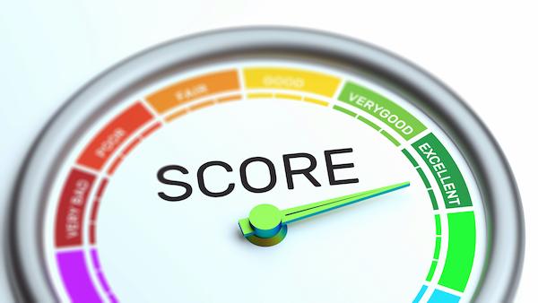 Business Credit Score Gauge Concept, Excellent Grade.