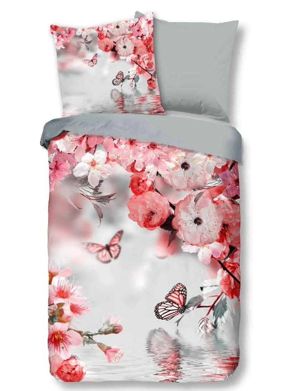 dekbedovertrek desires 9317 strijkvrij kreukvrij klassiek bloemen rose