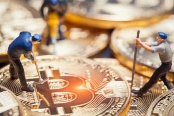 Dei minatori al lavoro con dei Bitcoin