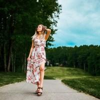 Romantic Rose Print Maxi Dress | Elegant Summer Fashion